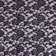 Čipka, elastična, 17830-600, temno modra