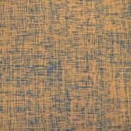 Jersey, bombaž, abstraktni, 17842-15, oranžna