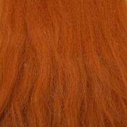 Krzno, umetno, dolgodlako, 17843-12, oranžno rjava