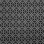 Čipka, elastična, 17610-069, črna