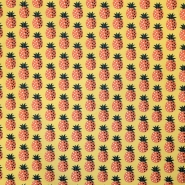 Bombaž, poplin, sadje, 17850, oranžna