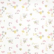Bombaž, poplin, otroški, 17851-2, roza