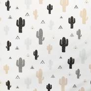 Bombaž, poplin, kaktusi, 17853