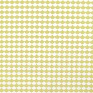 Bombaž, poplin, tisk, 17856-4, rumena