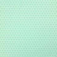 Bombaž, poplin, geometrijski, 17867-2, mint