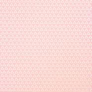 Bombaž, poplin, geometrijski, 17867-1, roza