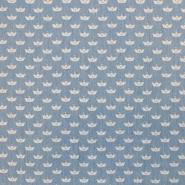 Jeans, srajčni, origami, 17946-002, modra