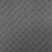 Bombaž, poplin, geometrijski, 17949-001, črna