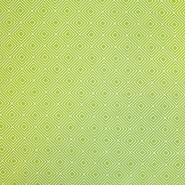 Bombaž, poplin, geometrijski, 17949-008, zelena