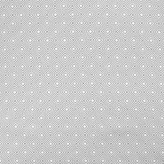 Bombaž, poplin, geometrijski, 17949-113, siva