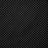 Pamuk, popelin, točkice, 17950-001, crna