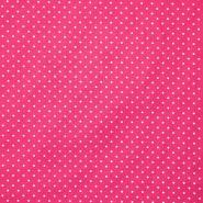 Bombaž, poplin, pikice, 17950-006, roza