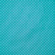 Pamuk, popelin, točkice, 17950-009, tirkizna