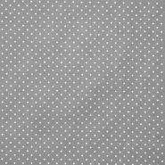Pamuk, popelin, točkice, 17950-013, siva