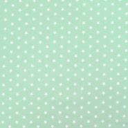 Bombaž, poplin, zvezde, 17951-011, mint - Svet metraže