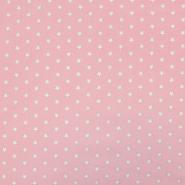Bombaž, poplin, zvezde, 17951-012, roza