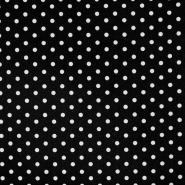 Baumwolle, Popeline, Punkte, 17952-001, schwarz