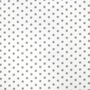 Bombaž, poplin, pike, 17952-113, sivo bela
