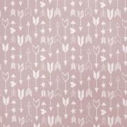 Deko, tisk, 17884-013, roza