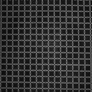 Deko, tisk, geometrijski, 17889-70, črno srebrna