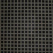Deko, tisk, geometrijski, 17889-080, črno zlata