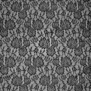 Čipka, elastična, 17903-069, črna