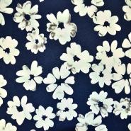 Jersey, viskoza, cvetlični, 17906-021, modra