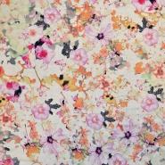 Jersey, viskoza, lan, cvetlični, 17929-013