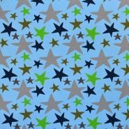 Jersey, bombaž, zvezde, 17936-003, modra