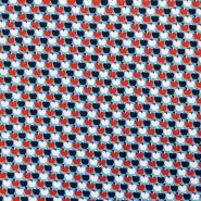 Jersey, bombaž, sadje, srčki, 17256-005, modra