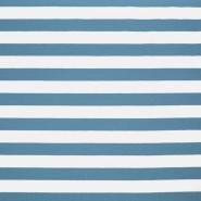 Jersey, bombaž, črte, 17415-006, modra