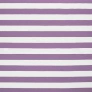Jersey, bombaž, črte, 17415-009, vijola