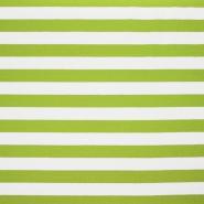 Jersey, bombaž, črte, 17415-010, zelena