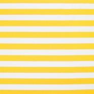 Jersey, bombaž, črte, 17415-014, rumena