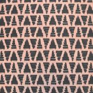 Prevešanka, kosmatena, geometrijski, 17965-004, roza