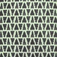 Prevešanka, kosmatena, geometrijski, 17965-003, zelena