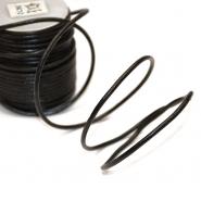 Schnur, Leder, 3mm, 8010-4761, schwarz