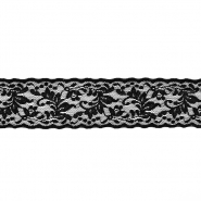Čipka, elastična, 60mm, 18014-002, črna