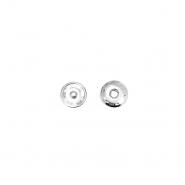 Magnetknöpfe, zum Annähen,  0,6cm, 18033-101, silbern