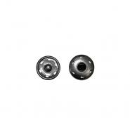 Magnetknöpfe, zum Annähen, 1cm, 18035-130, schwarz