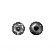 Magnetknöpfe, zum Annähen, 1,5 cm, 18036-130, schwarz