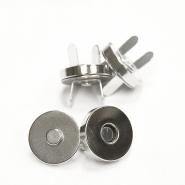 Magnetknopf, 18038-101, silber