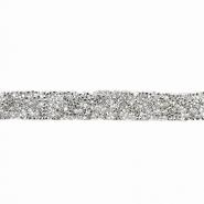 Trak, kristali, 20 mm, 18044-001, srebrna