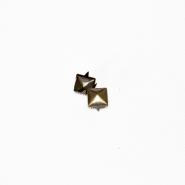 Dekorative Nieten, Pyramide,18046-108, altgold