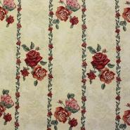 Deco jacquard, floral, roses, 5624