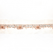 Trak, svila, vezen s perlicami, 18064-1