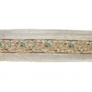 Trak, svila, vezen s perlicami, 18064-2