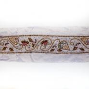 Trak, svila, vezen s perlicami, 18064-3