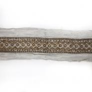Trak, svila, vezen s perlicami, 18064-4