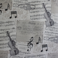 Deco, print, music, notes, 5633